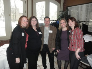 Our Secretary, Emily; Our Education Chair, Denise; National President, Buck Runyan; Our President, Michelle; and our Site Host, Laura Adams from Insight