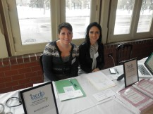 Two of our amazing student volunteers