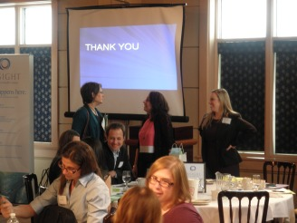 Dr. Astrachan-Fletcher took the time to talk with many of our attendees after the event.